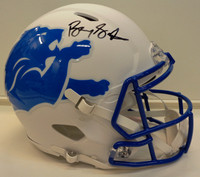 Barry Sanders Autographed Detroit Lions Full Size Authentic AMP Helmet