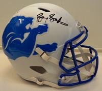 Barry Sanders Autographed Detroit Lions Full Size Replica AMP Helmet