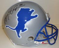 Barry Sanders Autographed Detroit Lions Deluxe Replica Helmet