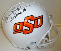"Barry Sanders Autographed OSU Pro Line Helmet with ""Heisman 88"""