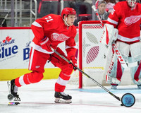 Dennis Cholowski Autographed Detroit Red Wings 8x10 #2 - Action Home (Pre-Order)