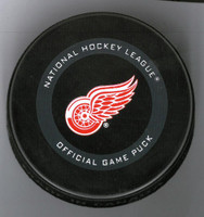 Dennis Cholowski Autographed Detroit Red Wings Game Model Hockey Puck (Pre-Order)