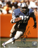 "Billy Sims Autographed Detroit Lions 8x10 Photo #1 w/ ""80 ROY"" Inscription"