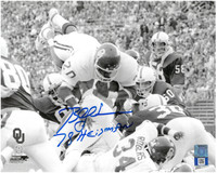 "Billy Sims Autographed Oklahoma Sooners 8x10 Photo #1 w/ ""78 Heisman"" Inscription"