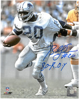 "Billy Sims Autographed Detroit Lions 8x10 Photo #3 w/ ""80 ROY"" Inscription"