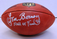 "Lem Barney Autographed Official NFL ""The Duke"" Football w/ ""Hall of Fame 92"""
