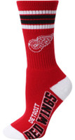 Detroit Red Wings For Bare Feet Four Stripe Socks