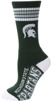 Michigan State University For Bare Feet Four Stripe Socks