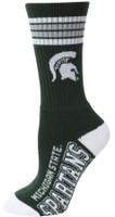 Michigan State University For Bare Feet Four Stripe Socks