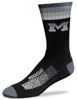 University of Michigan For Bare Feet Platinum Deuce Crew Socks