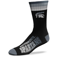 Michigan State University For Bare Feet Platinum Deuce Crew Socks