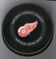 Dylan Larkin Autographed Detroit Red Wings Game Model Hockey Puck (Pre-Order)