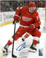 Adam Erne Autographed Detroit Red Wings 8x10 Photo #1