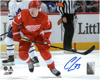 Adam Erne Autographed Detroit Red Wings 8x10 Photo #2