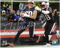 Chase Winovich Autographed New England Patriots 8x10 Photo #4 - 1st NFL Career Touchdown