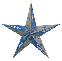 "Detroit Lions Little Earth 24"" Team Star Paper Lantern"