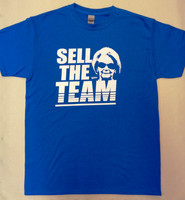 """Sell The Team"" Men's Blue T-Shirt"