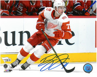 Dylan Larkin Autographed Detroit Red Wings 8x10 Photo #7