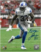 Kerryon Johnson Autographed Detroit Lions 8x10 #4