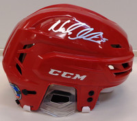 Nicklas Lidstrom Autographed Full Size CCM Hockey Helmet - Red