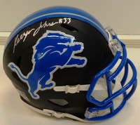 Kerryon Johnson Autographed Detroit Lions Flat Black Mini Helmet