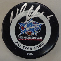 Nicklas Lidstrom Autographed 2001 All Star Game Puck