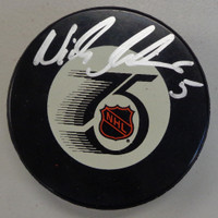 Nicklas Lidstrom Autographed Detroit Red Wings 1991/92 Game Puck
