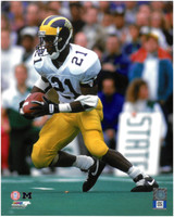 Desmond Howard Autographed University of Michigan 8x10 #2 - Road Action (pre-order)