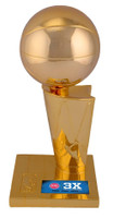 "Detroit Pistons Fanatics 3-Time NBA Finals Champions 12"" Replica Larry O'Brien Trophy with Sublimated Plate"