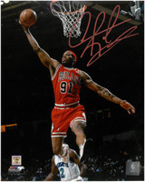 Dennis Rodman Autographed Chicago Bulls 8x10 Photo #2
