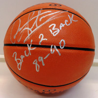 "Dennis Rodman Autographed Indoor/Outdoor Basketball w/""Back 2 Back, 89-90 Champs"" Inscription"
