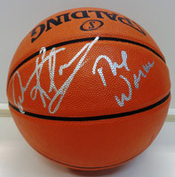 "Dennis Rodman Autographed Indoor/Outdoor Basketball w/""The Worm"" Inscription"