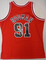 Dennis Rodman Autographed Mitchell & Ness Chicago Bulls Red 1997-98 Jersey