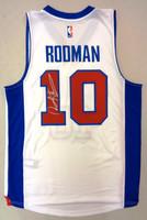 Dennis Rodman Autographed Adidas Detroit Pistons White Jersey