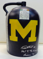 Desmond Howard Autographed Michigan/Wisconsin Rivalry Trophy Little Brown Jug - Actual Size