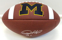 Desmond Howard Autographed University of Michigan Logo Football