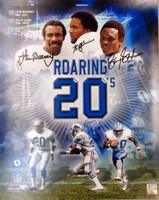 Roaring 20's Autographed Detroit Lions 16x20 Photo - Lem Barney, Billy Sims & Barry Sanders