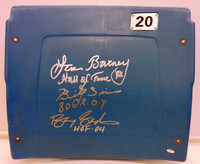 Roaring 20's Autographed Pontiac Silverdome #20 Seatback - Lem Barney, Billy Sims & Barry Sanders