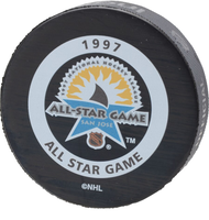 Brett Hull Autographed 1997 NHL All-Star Official Game Puck (Pre-Order)