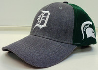 Detroit Tigers SGA Michigan State University Adjustable Snapback Hat