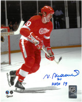 "Vaclav Nedomansky Autographed Detroit Red Wings 8x10 Photo #1 w/ ""HHOF 19"" - Color"