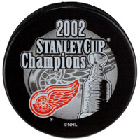 Dominik Hasek Autographed 2002 Stanley Cup Champs Puck (Pre-Order)