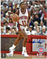 Isiah Thomas Autographed Detroit Pistons 8x10 Photo #1