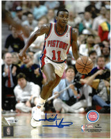 Isiah Thomas Autographed Detroit Pistons 8x10 Photo #2