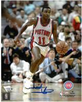 Isiah Thomas Autographed Detroit Pistons 8x10 Photo #2