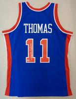 Isiah Thomas Autographed Mitchell & Ness 1988-89 Blue Swingman Jersey