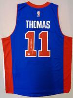 Isiah Thomas Autographed Adidas Blue Replica Jersey