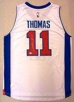 Isiah Thomas Autographed Adidas White Replica Jersey