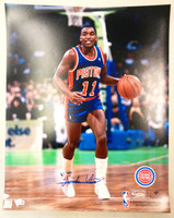Isiah Thomas Autographed Detroit Pistons 16x20 Photo #2