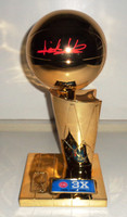 "Isiah Thomas Autographed Detroit Pistons Fanatics 3-Time NBA Finals Champions 12"" Replica Trophy"